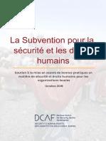 sub securité et droit humain