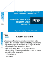 CAUSE AND EFFECT WITH LATENT OR CONCEPT VARIABLES