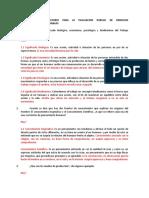 CUESTIONARIO PREPARATORIO PARA LA EVALUACION PARCIAL DE DERECHOS FUNDAMENTALES EN EL TRABAJO