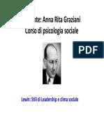 7  Lewin leadership e cambiamento sociale