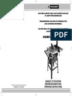 Scie de table - Peugeot Energysaw254DC