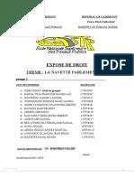 EXPOSE DE DROIT