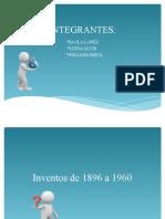 TRABAJO DE 1896 A 1960