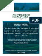 UdeA-UNED SintesisRapida COVID19 AlternanciaEducación Superior 18NOV2020