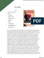 Raúl Barón Biza - El derecho de matar