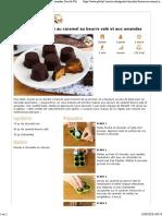 Chocolats fourrés au caramel au beurre salé et aux amandes, Recette Ptitchef - Ptitchef