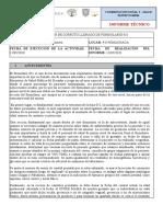 INFORME DE HOJA 051 JULIO 2020