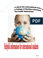 Brochure about International tutor 2010