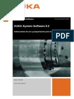 KUKA System Software 8.3 Instrucciones de uso y programación para el usuario final