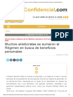 Muchos aristócratas se sumaron al Régimen en busca de beneficios personales » ExtraConfidencial