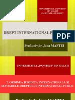 2. ORDINEA JURIDICA INTERNATIONALA SI IZVOARELE