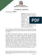 Sentencia TC 0009-13 C