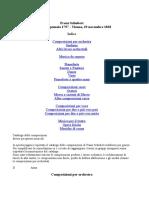Franz Schubert - Catalogo delle Opere con guide all'ascolto e link a YouTube