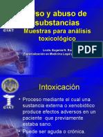 4 Muestras para analisis toxicologico
