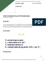 Unités de mesure traitement de l'eau – notions de physique des gaz et de thermodynamique - Degremont®