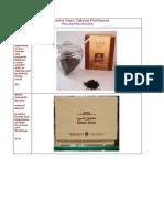 Zahras Perfumes - Bakhoor Catalog