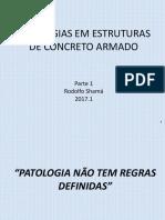 Patologias nas estruturas de Concreto Armado - Rodolfo Shamá - 2017 1 - PARTE 1