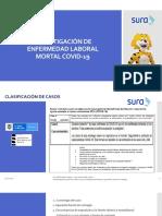 Investigación de enfermedad laboral mortal COVID19 22072020
