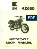 Kawasaki KZ 650 B1 '77 - Service Manual