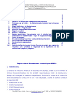OK Reglamento de Mantenimiento Industrial SOMEC