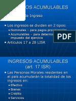 (3) Ingresos Acumulables Personas Morales 2006