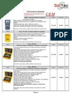 Telurímetros y analizadores digitales SEW-CEM - 84