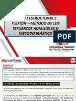 PRESENTACION DISEÑO 1 - FLEXION - MET ESFUERZOS ADM
