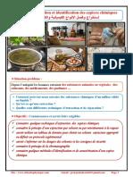 Chapitre 2 , Extraction, Séparation Et Identification Des Espèces Chimiques, Activités Et Exercices d'Application , TCS BIOF , Pr JENKAL RACHID