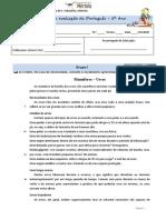 Teste1 - Português 5ª Ano