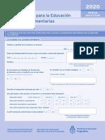Becas Complementarias Inicial 2020 - formulario   compleeto