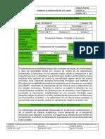 Syllabus Fundamentos de contabilidad