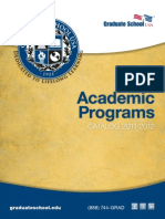 Graduate School USA Academic Programs Catalog