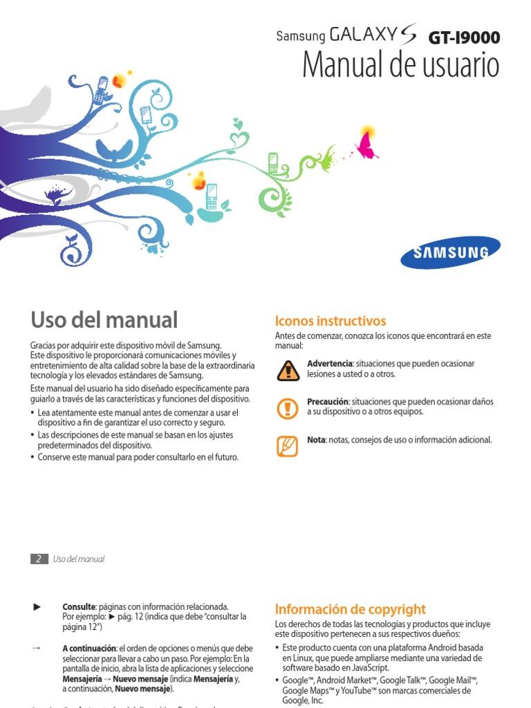 Manual Samsung Galaxy S español