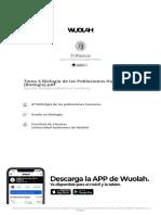 Tema 4 Biología de las Poblacioens Humanas (Biología)