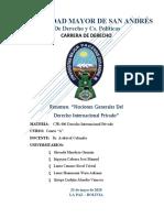 Resumen Tema 1, Nociones generales del DIPr, Grupo 1