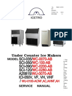 ICETRO cubic type ICEMAKER Service Manual Rev 1 2(20151127)
