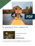 As raposinhas na Vinha – Cantares 2_15