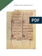 3 - Exercice 1 - Motet Trop souvent me duel-Brunette-In seculum – Bamberg, Litt. 115, f. 9v