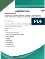Carta Maestra Curso Análisis Económico y Financiero
