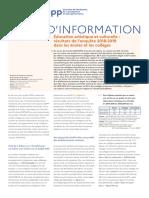 DEPP Note d'information 2020-40 Education artistique et culturelle