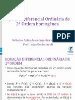 3 - Slides de Métodos Aplicados à Engenharia - Equação Diferencial Ordinária de 2ª Ordem