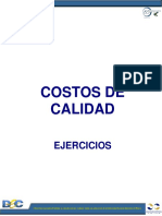 COSTOS DE CALIDAD EJERCICIOS