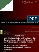 Presentacion Aranceles FCARM