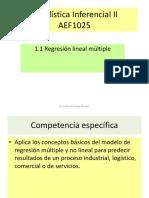 Estadística Inferencial II Unidad I regresión multiple v6