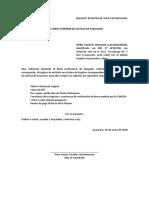 SOLICITO REGISTRO DE TITULO