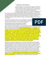 BOSA Example Clinical Summaries