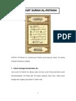KHASIAT SURAH AL-FATIHAH