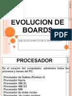 EVOLUCION DE BOARDS