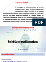 Solid Catalyzed Reactions