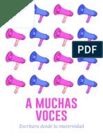 A muchas voces. Escritura desde la maternidad.pdf